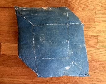 Sashiko Cube Throw Pillow