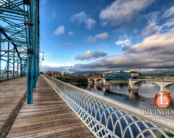 Chattanooga Landscape Photography - Walnut Street Bridge in Chattanooga Tennessee.