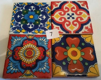 Mexican Tile Refrigerator Magnet Set of 4 strong neodymium #7