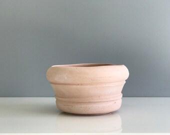 Handmade Blush Terra Cotta Planter / Pink Planter