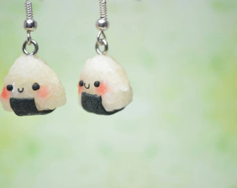 Kawaii/ Cute Onigiri Earrings