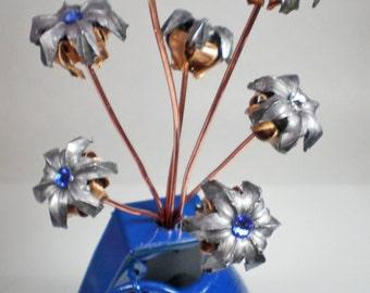 Bullets and Grenade Bullet Flower Vase Thin Blue Line Wedding Groomsman Birthday Anniversary Real expanded Genuine Bullets