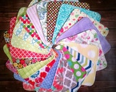 Cloth Wipes Set of 36, 2-Ply Cloth Wipes, Cloth Napkins, Family Cloth, Washcloths, Facial Wipes, Flannel and/or Terry, Durable, Long Lasting
