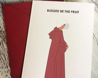 Handmaid's Tale Baby Card - Blessed Be The Fruit - Under His Eye