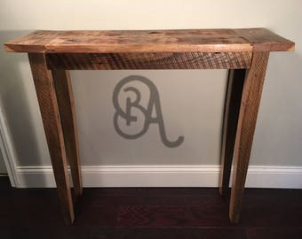 100 year old Reclaimed Barn Wood Console Table