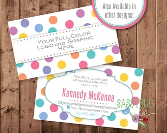 Business Cards | Personalized | Two-Sided with Your Consultant Info | Colorful Dots Pattern | DIGITAL PRINTABLE