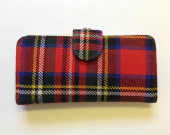 Vintage Tartan Purse - Scotland - Red Tartan - Royal Stewart - Wallet - Outlander - Highlands