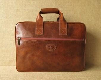 Leather laptop bag, messenger bag, handmade briefcase & portfolio, shoulder bag