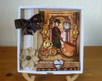 Steampunk Ladies Boxed Birthday Card