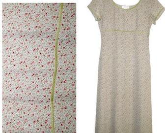 Vintage Mint Green Dress, Mint Green Maxi Dress, Vintage Express Dress, Floral Maxi Dress, Floral Boho Dress, Boho Clothing, Hippie Dress