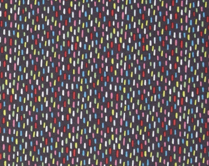 HIP HOORAY - Felt Tip Marker in Grey - Gray Stripes Party Cotton Quilt Fabric - by Lizzie Mackay for Blend Fabrics - 121.101.04.2 (W3788)