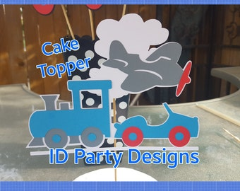 PLANES TRAINS and AUTOMOBILES Cake Topper Transportation Cake Topper