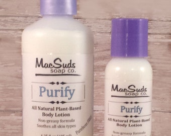 Purify Lotion, Vegan, Natural, Hand salve, Body cream, Body butter, Light weight, Homemade, Small batch, Body lotion