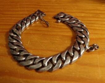 """Vintage Sterling Silver 7 1/2"""" x 1/2"""" Bracelet"""