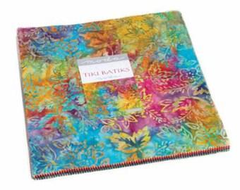 "Tiki Batiks Layer Cakes (40 - 10"" x 10"" squares) designed by Moda Fabrics"