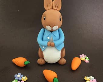 Inspired Peter Rabbit or Harry the Bunny Fondant Toppers