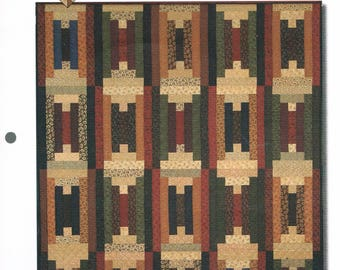 QUILT PATTERN  - Steps Quilt Sewing Pattern - Strip Quilt Sewing Pattern - Jelly Roll Quilt Pattern - Kansas Troubles Quilters
