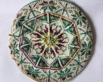 Hand Knitted Fair Isle Tam
