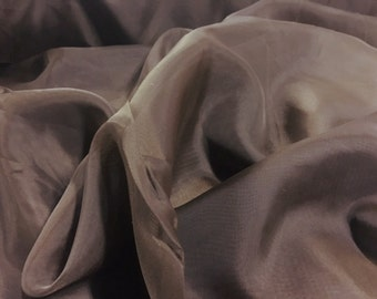 """Chocolate Voile Fabric 118"""" Wide By The Yard 100% Polyester"""