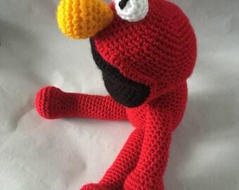 Elmo, crochet Elmo, red monster, Sesame Street