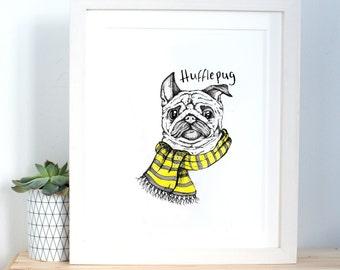 Hufflepug print - a5 size
