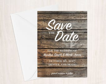 Wood-Background Save the Date