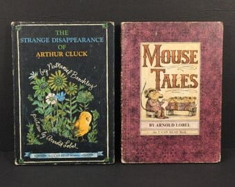 "2 Arnold Lobel ""I Can Read"" Books; Mouse Tales (1972), The Strange Disappearance of Arthur Cluck (1967), Hard Cover, Harper and Row"