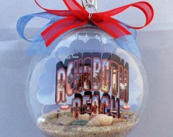 Rehoboth Beach Delaware Vintage Postcard Christmas Ornament - Unique Gift!