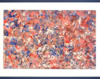 LEE KRASNER - original abstract oil painting - c1960s (American 1908-1984. Mid century. Wife of Jackson Pollock)