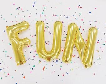 Letter Balloons | 16 Inch Gold Mylar