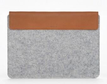 MacBook Air 13 Sleeve – MacBook Air Case – MacBook Cover – MacBook Air Leather - Leather Felt Case