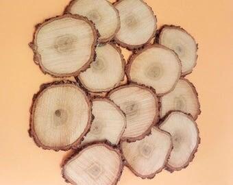 "25 4-5 ""Discs Tree Slices Round Branch Trunk Slices Wedding Decor Rustic Decor GRANDE WOOD SLICES"