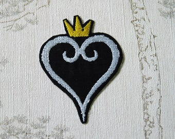Kingdom Hearts Heartless/Nobody embroidered iron on patch.