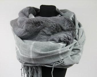 Genuine Rabbit Fur Scarf /Real Fur/Genuine Fur/Winter Fashion