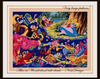 cross stitch pattern, cross stitch, Alice in Wonderland tale classic - cross stitch pattern - PDF pattern - instant download!