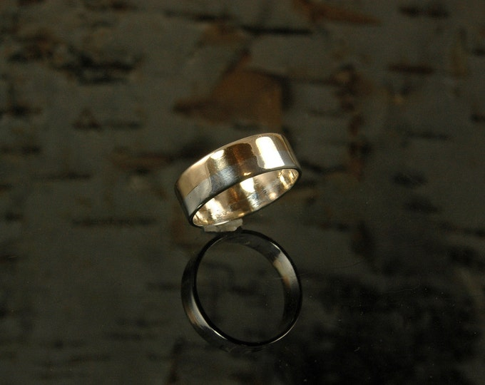 Gold and silver wedding band