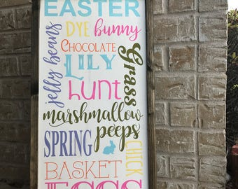 Easter Words vinyl STENCIL ONLY