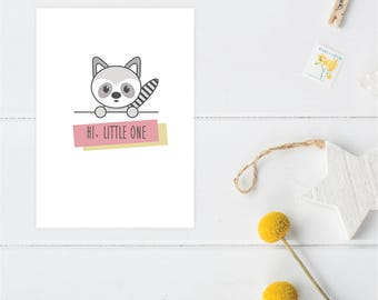 Greeting Card | Little Friends Collection | Raccoon