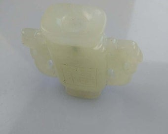 old chinese rare collect antique jade vase 066