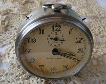 Antique German Alarm Clock Kienzle Tam Tam/ Mechanical alarm clock / Large Alarm Clock /1940's/Fully Working