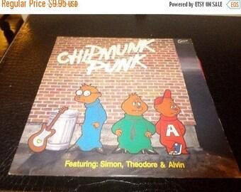 Save 30% Today Vintage 1980 LP Record Chipmunk Punk Excelsior Records XLP-6008 Excellent Condition 3325