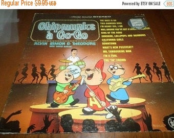 Save 30% Today Vintage 1965 Vinyl LP Record The Chipmunks A Go Go Very Good Condition 3564