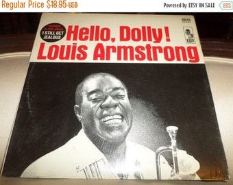 Save 30% Today Vintage 1964 Vinyl LP Record Hello Dolly! Louis Armstrong Near Mint Condition Jazz LP In Shrink 8840
