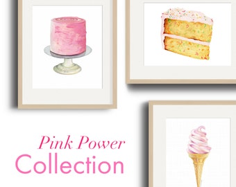 Pink Power Art Print Collection