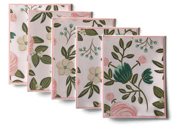 Floral Cards With Envelopes - Floral Stationary Set - Floral Note Cards - Flower Stationary - Flower Cards - Floral Greeting Cards - Blank