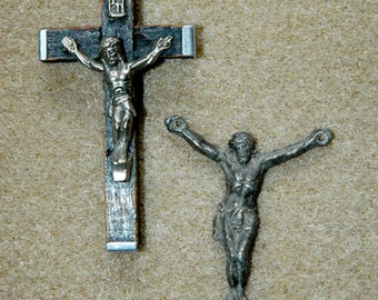 Lot of 2 Crucifixes for Re-Purpose Vintage