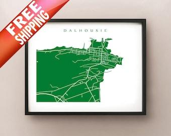 Dalhousie Map - New Brunswick Art Poster