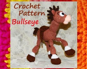 Amigurumi pattern. Crochet horse. Bullseye (Toy Story)