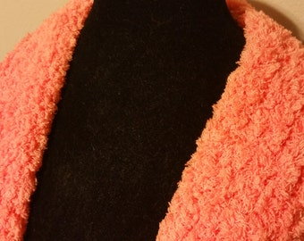 Tangerine Crocheted Scarf