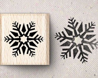 Stamp with snowflake Stine X 4.0 x 4.0 cm